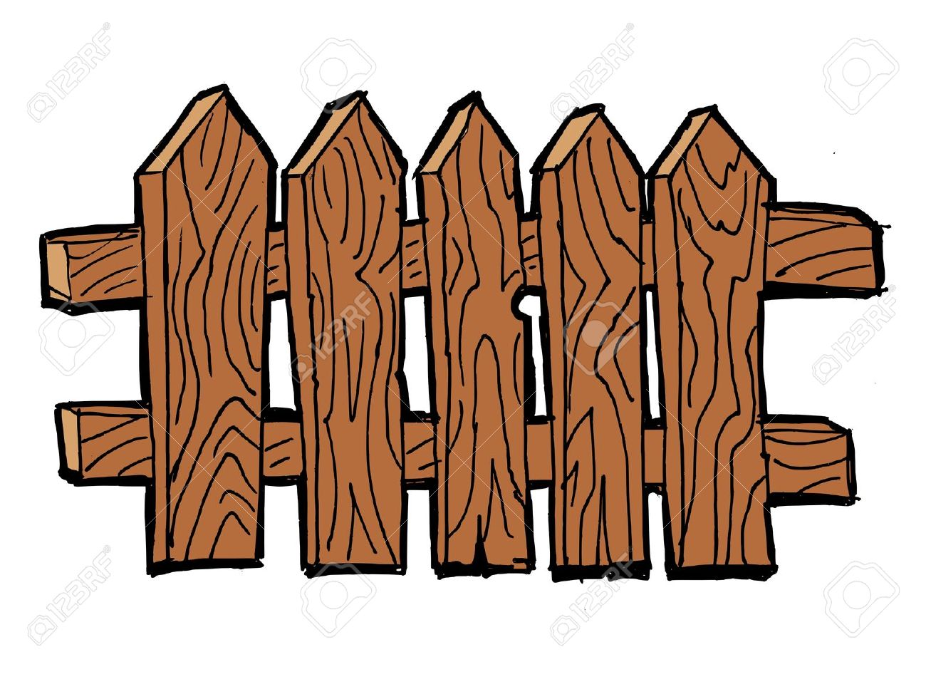 1300x974 Old Wooden Fence Clipart