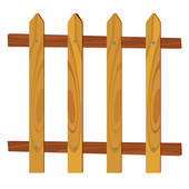 170x170 Clipart Of Wooden Fence In Park With Blue Sky In Background