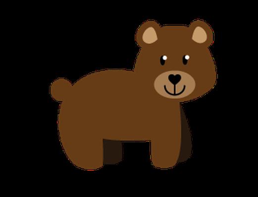 521x399 Bear Clipart Woodland