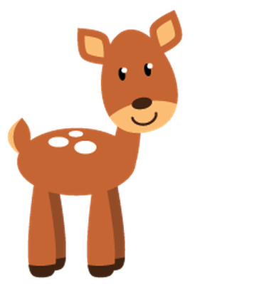 378x399 Dear Clipart Cute Forest Animal