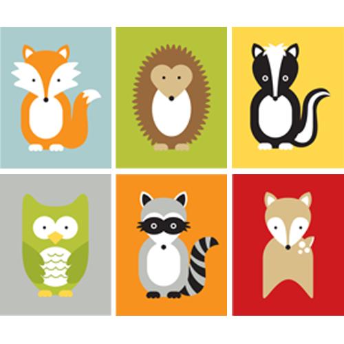 500x500 Woodland Animals Clip Art Clip Art