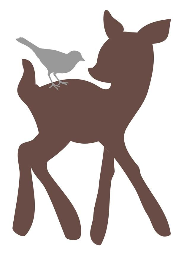 610x849 Dear Clipart Woodland Deer