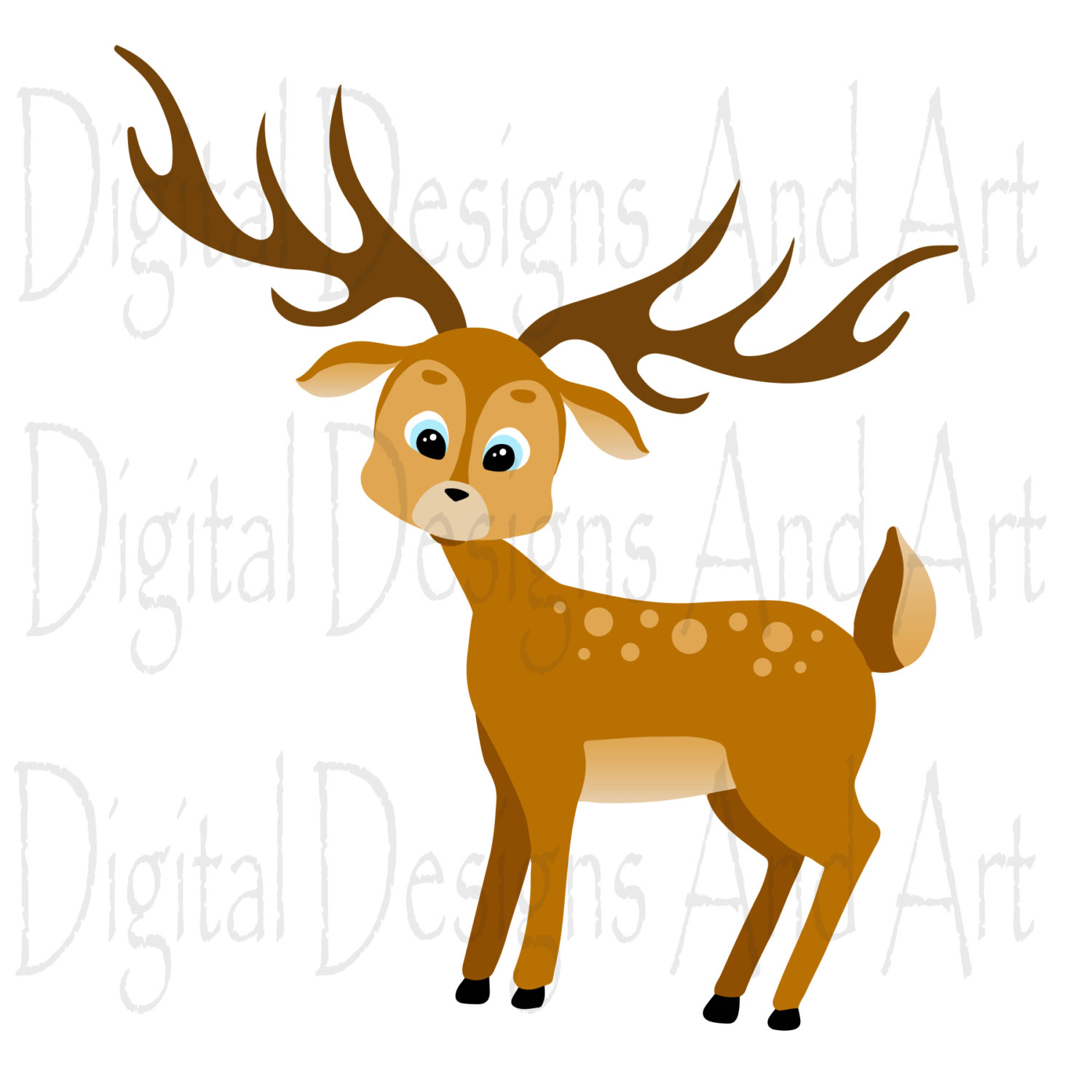1500x1500 Forest Animals Clipart, Forest Clip Art, Woodland Clipart
