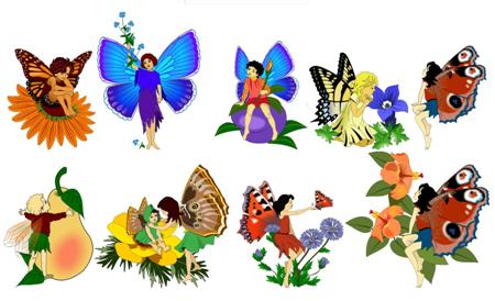 450x274 Free Woodland Fairy Clipart