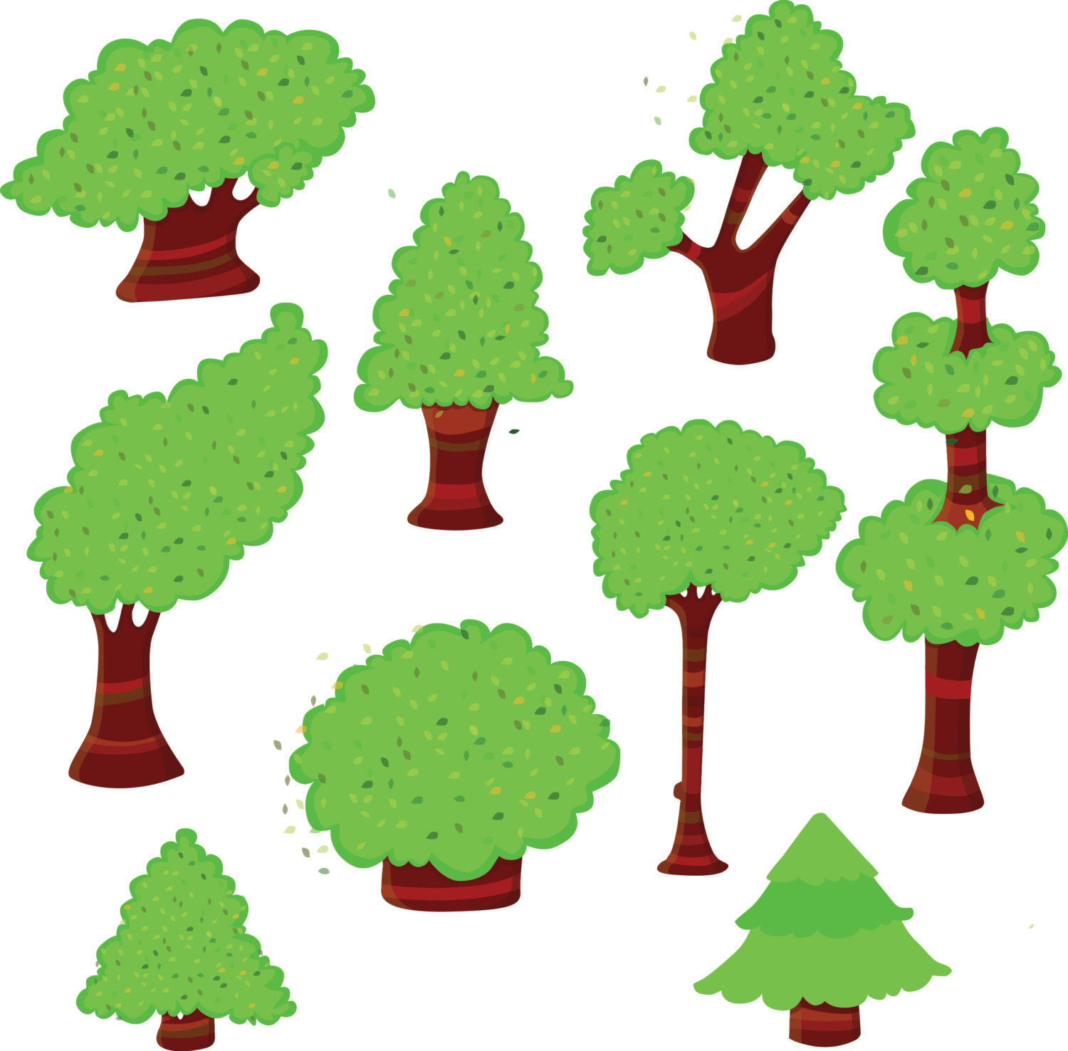 1500x1476 Trees Clipart, Green Trees Clipart, Tree Clipart, Woodland Clip