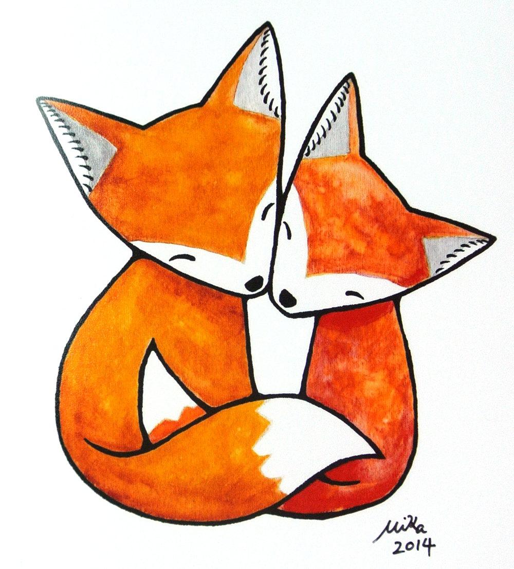 1000x1107 Fox Clipart Love
