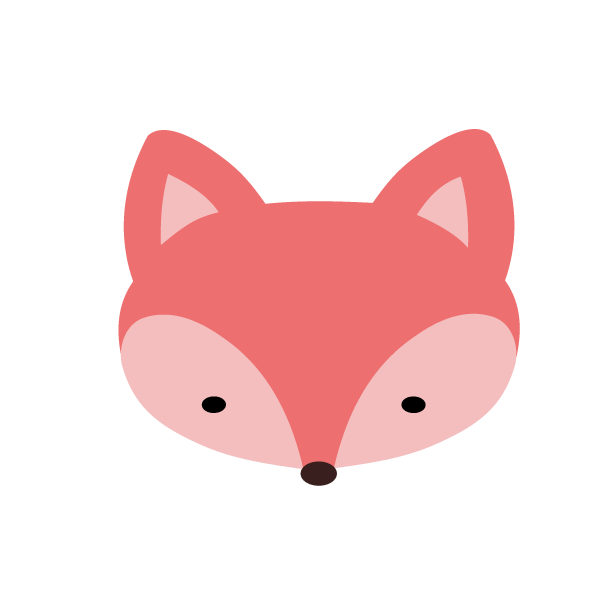 600x600 Fox Clipart Pink Fox