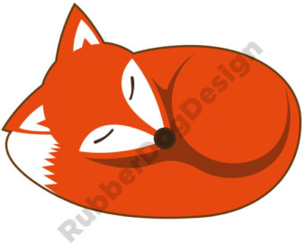340x270 Sleeping Fox Clipart Etsy