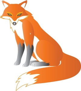 268x300 Top 78 Red Fox Clip Art