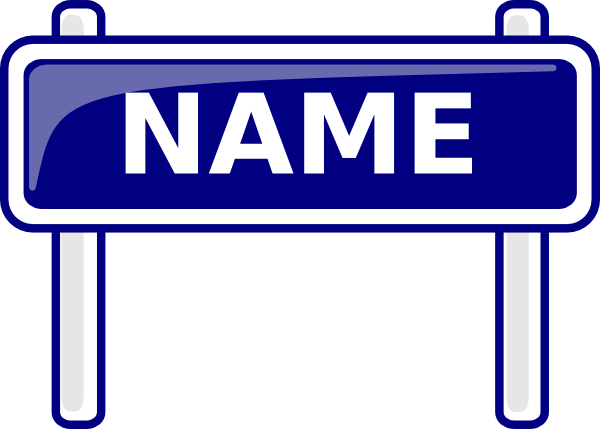600x429 Name Sign Clip Art