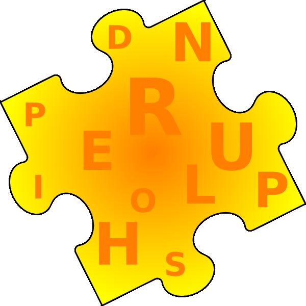 600x600 Word Puzzle Piece Clip Art
