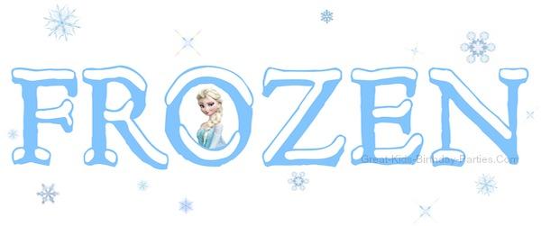 600x251 Word Clipart Disney Frozen