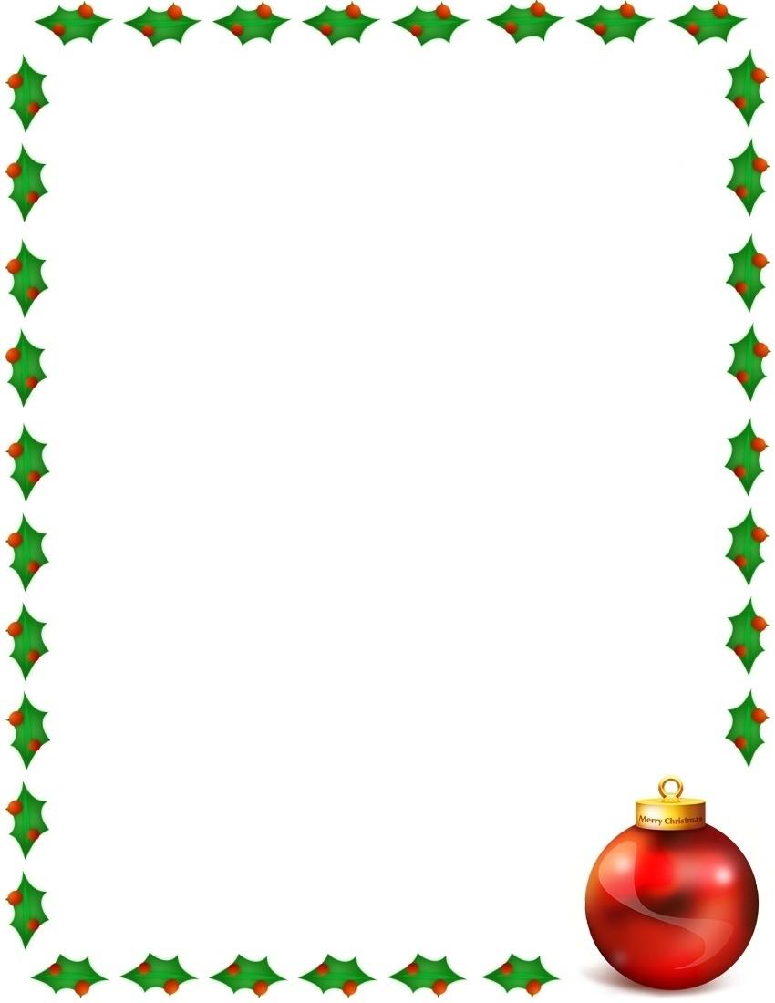 850x1100 Merry Christmas Border Clipart
