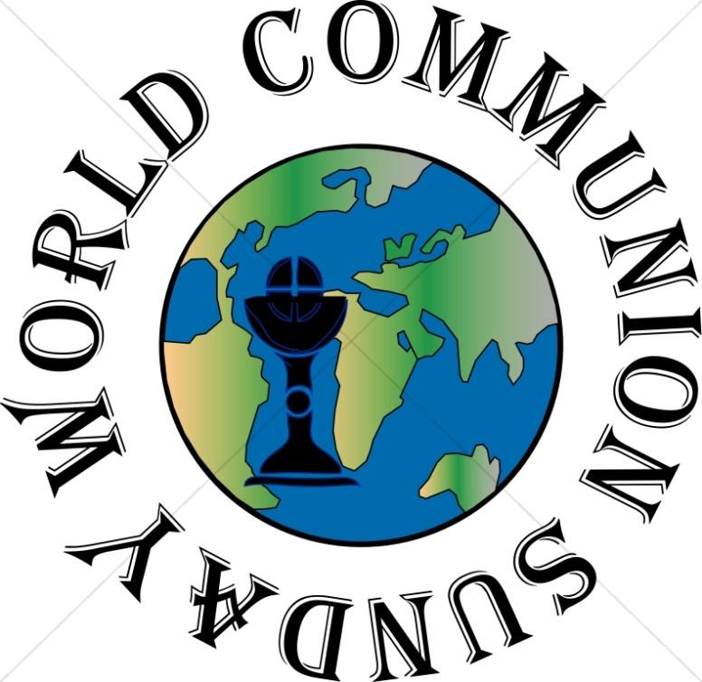 776x754 World Communion Sunday Globe Event Word Art