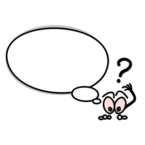 500x500 Puzzled Speech Bubble Vector Clip Art Public Domain Vectors