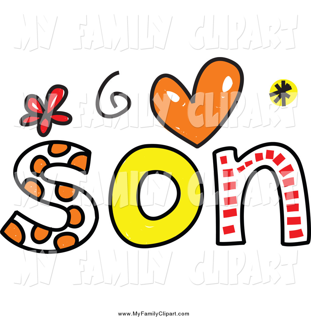 1024x1044 Clip Art Of A Colorful Son Word With Hearts And Flowers By Prawny