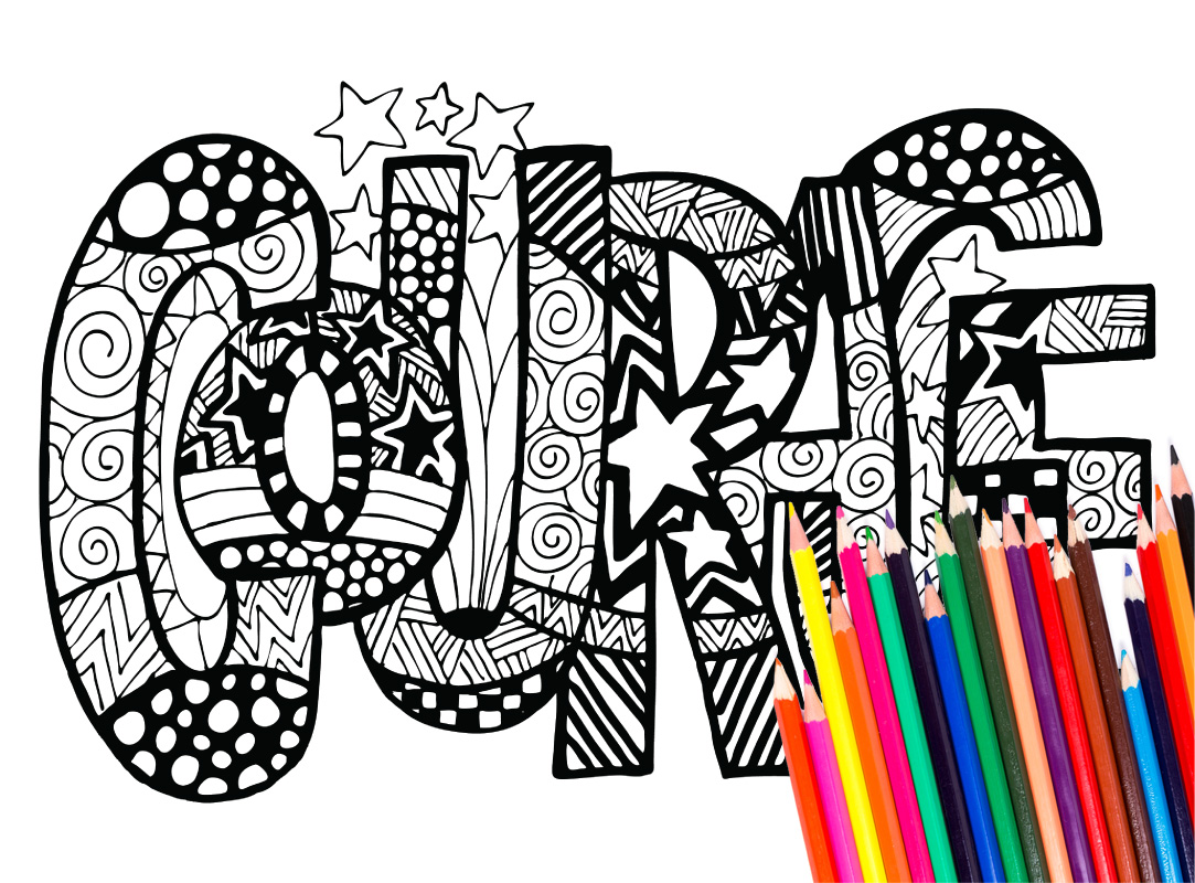 Word Coloring Pages Free Download Best Word Coloring Pages