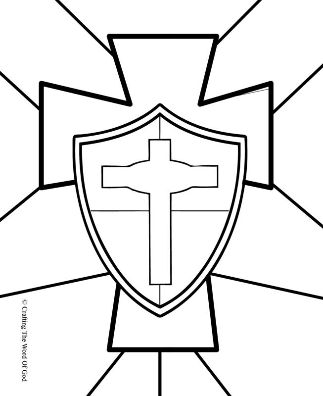 653x800 Shield Of Faith Coloring Page Line Drawings Online Shield Of Faith