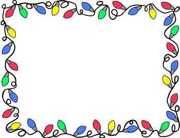 350x270 Christmas Lights Border Microsoft Word Merry Christmas And Happy