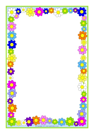 302x427 Free Flower Borders For Word Document