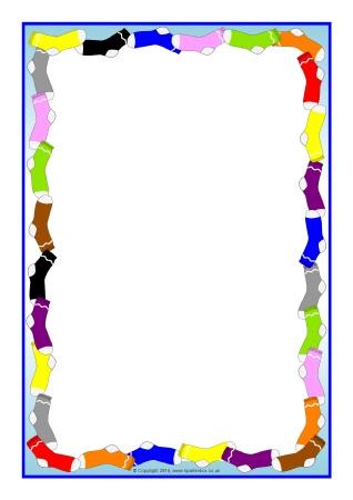 318x450 Sock Themed A4 Page Borders (Sb11473)
