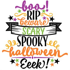 Word Halloween Cliparts