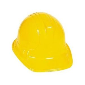 300x300 12pc) Yellow Construction Builder Worker Hat Kids Childs Plastic