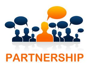 300x225 Working Together On Blackboard Meaning Teamwork Partnership