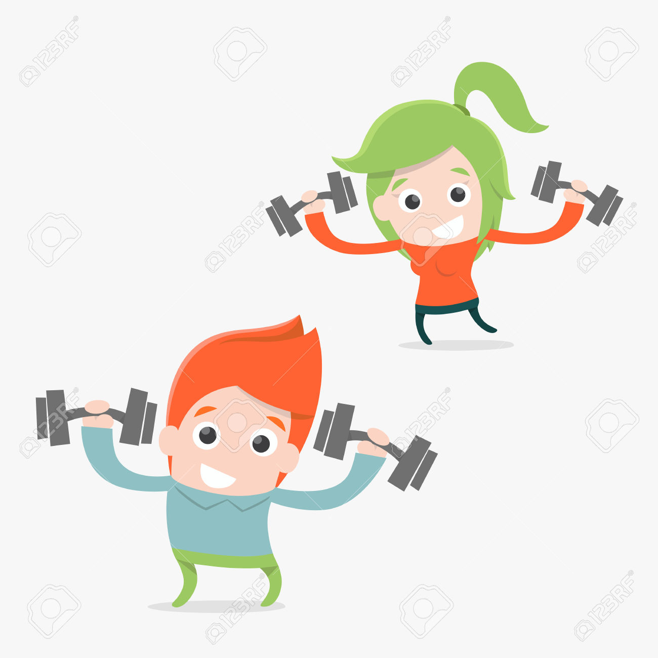Workout Images Cartoon | Free download on ClipArtMag