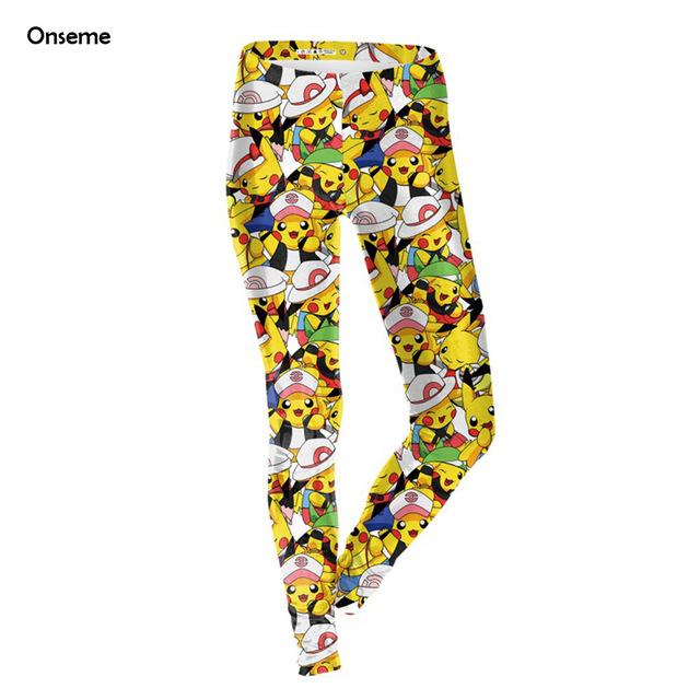 640x640 Pokemon Pikachu Leggings Funny Point Dot 3D Printed Fitness