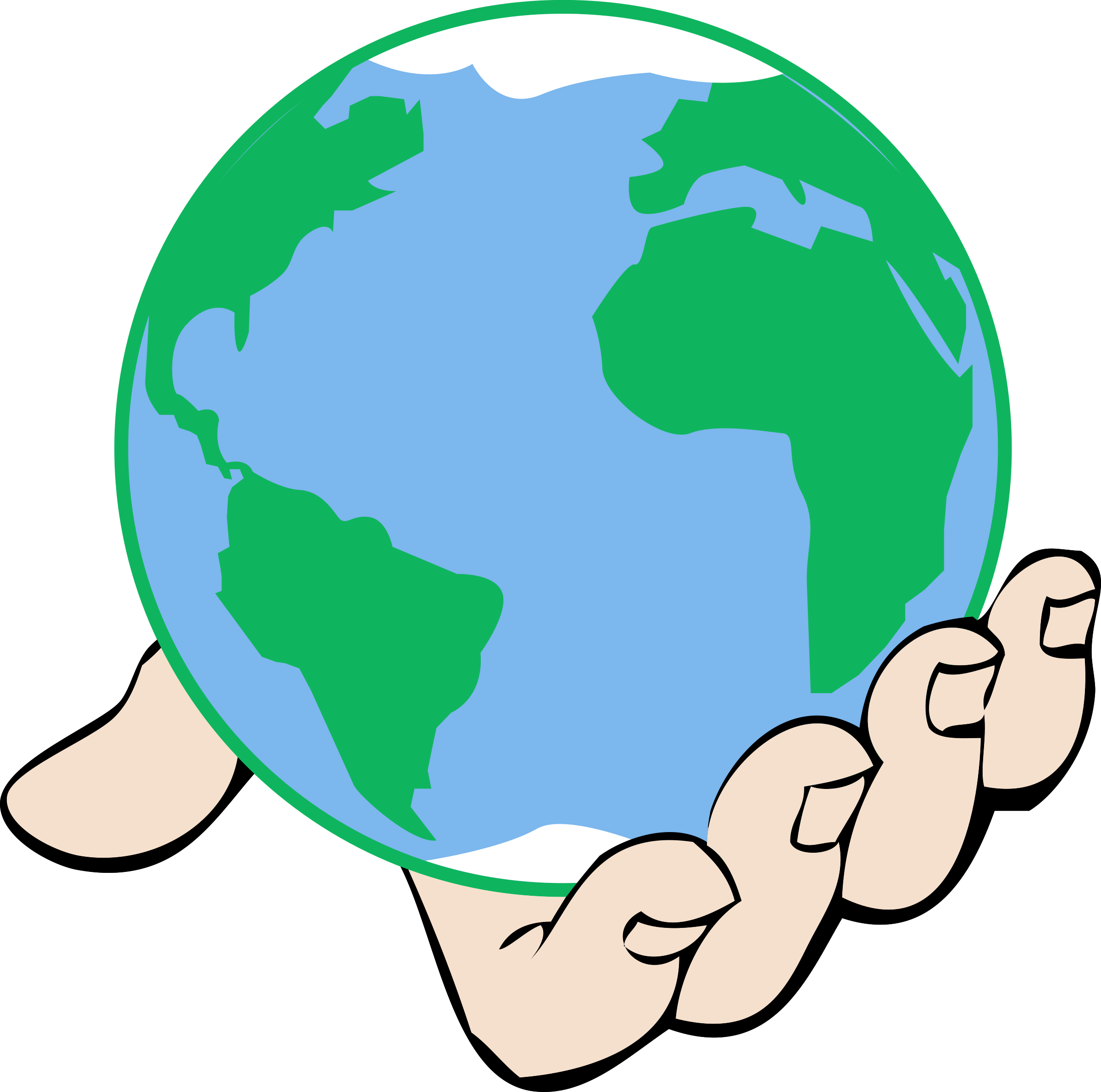 2400x2382 Clipart big world in hand