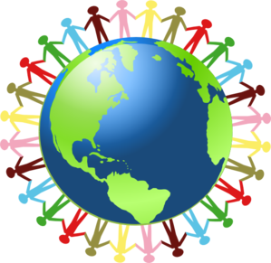 299x291 Holding Hands Around The World Clip Art