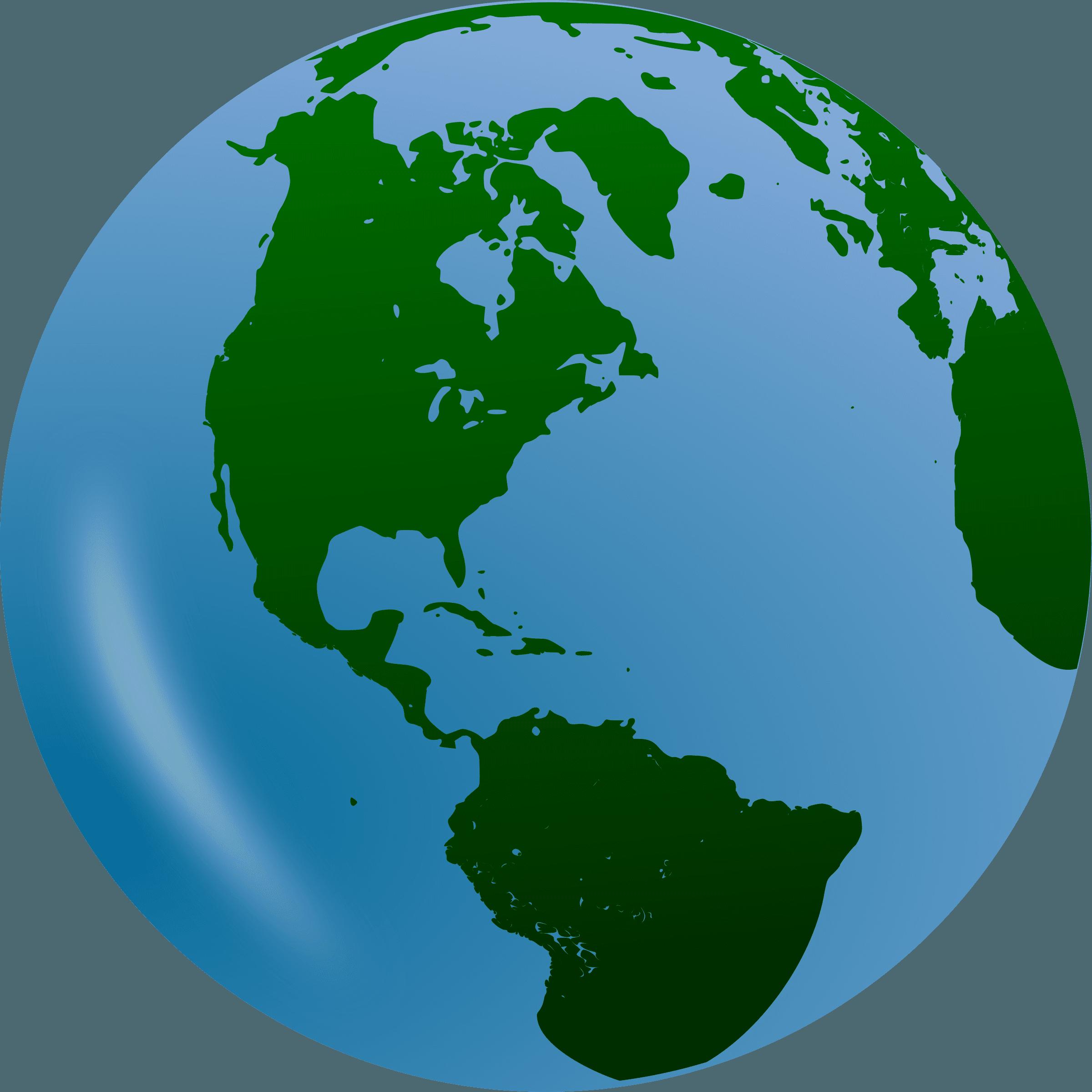 2400x2400 World Clip Art Globe Free Clipart Images 3