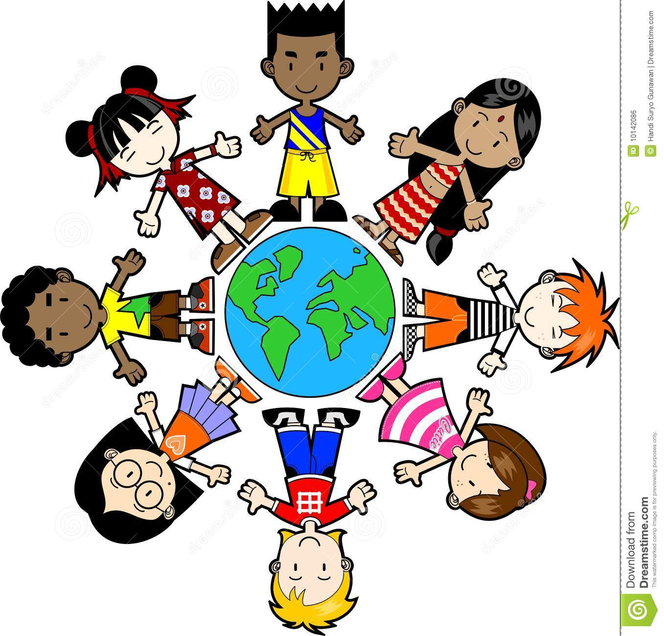 1357x1300 Children around the world clipart