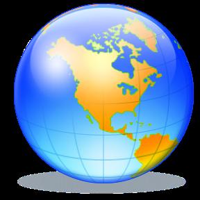 288x288 World Globe Clipart Vector Clip Art