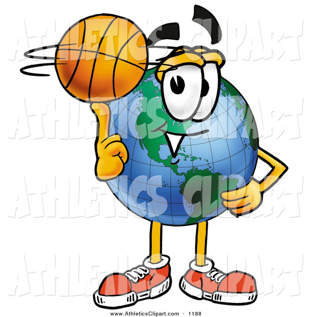 1024x1044 Clip Art Of A Sporty World Earth Globe Mascot Cartoon Character