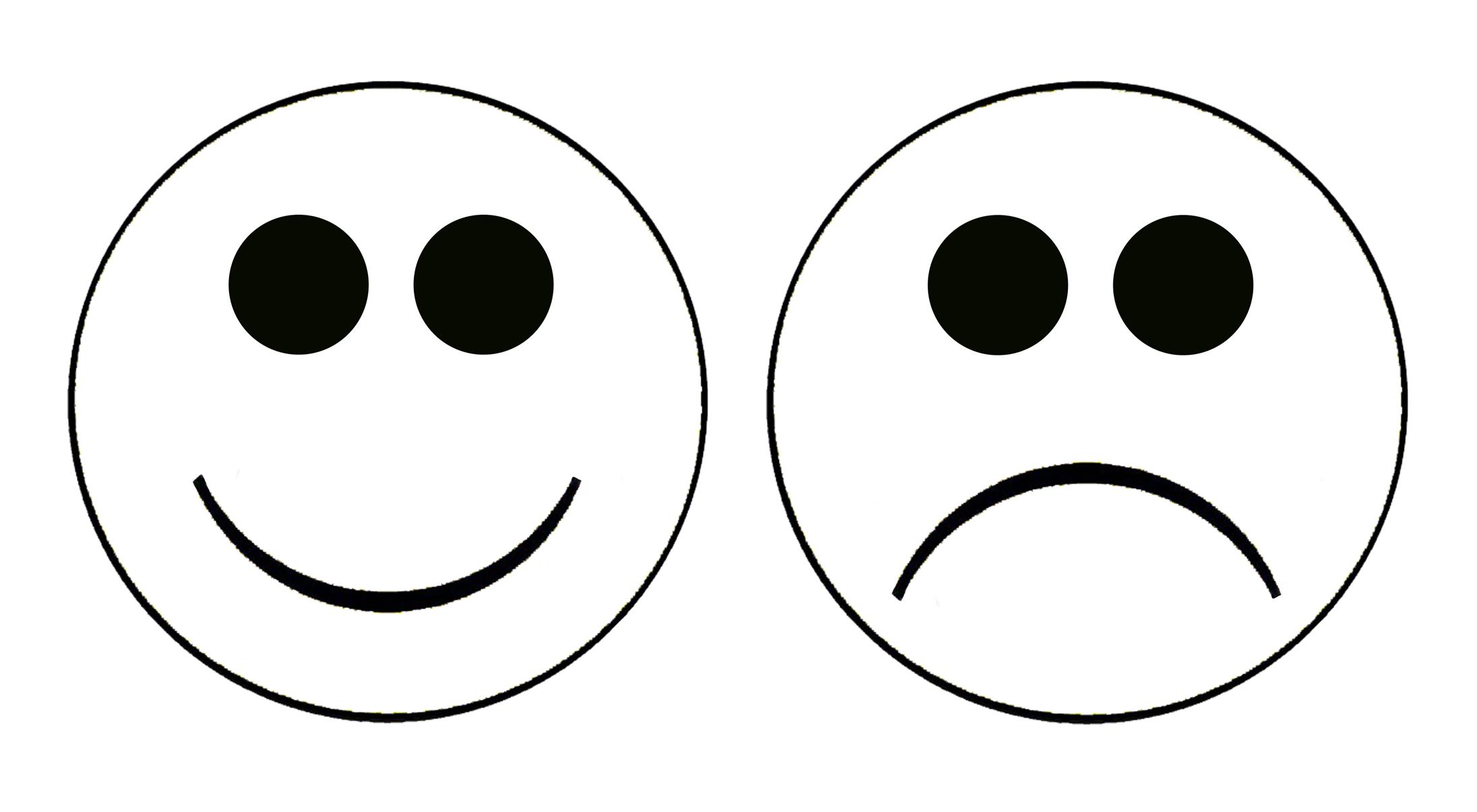 2192x1206 Emotions Clipart Happy Sad