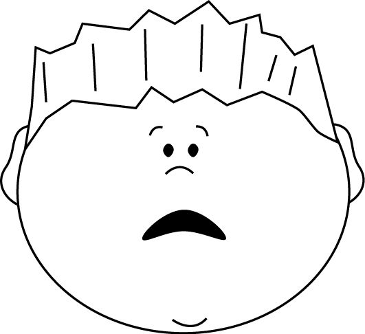 531x486 Scary Face Clipart Black And White