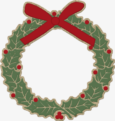 476x500 Cartoon Christmas Wreath, Christmas, Wreath, Merry Png Image