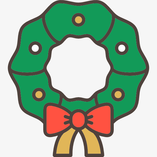 512x512 Cartoon Wreath, Wreath, Cartoon, Bow Png Image For Free Download