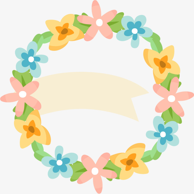 650x651 Cartoon Flower Flower Ring Borders, Cartoon Border, Flower Borders