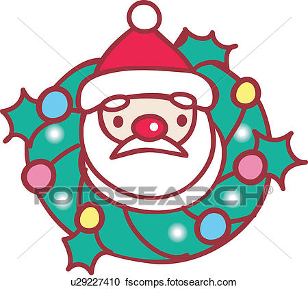 450x422 Clipart Of Christmas Wreath, X Mas, Wreath, Santa, Santa Clause