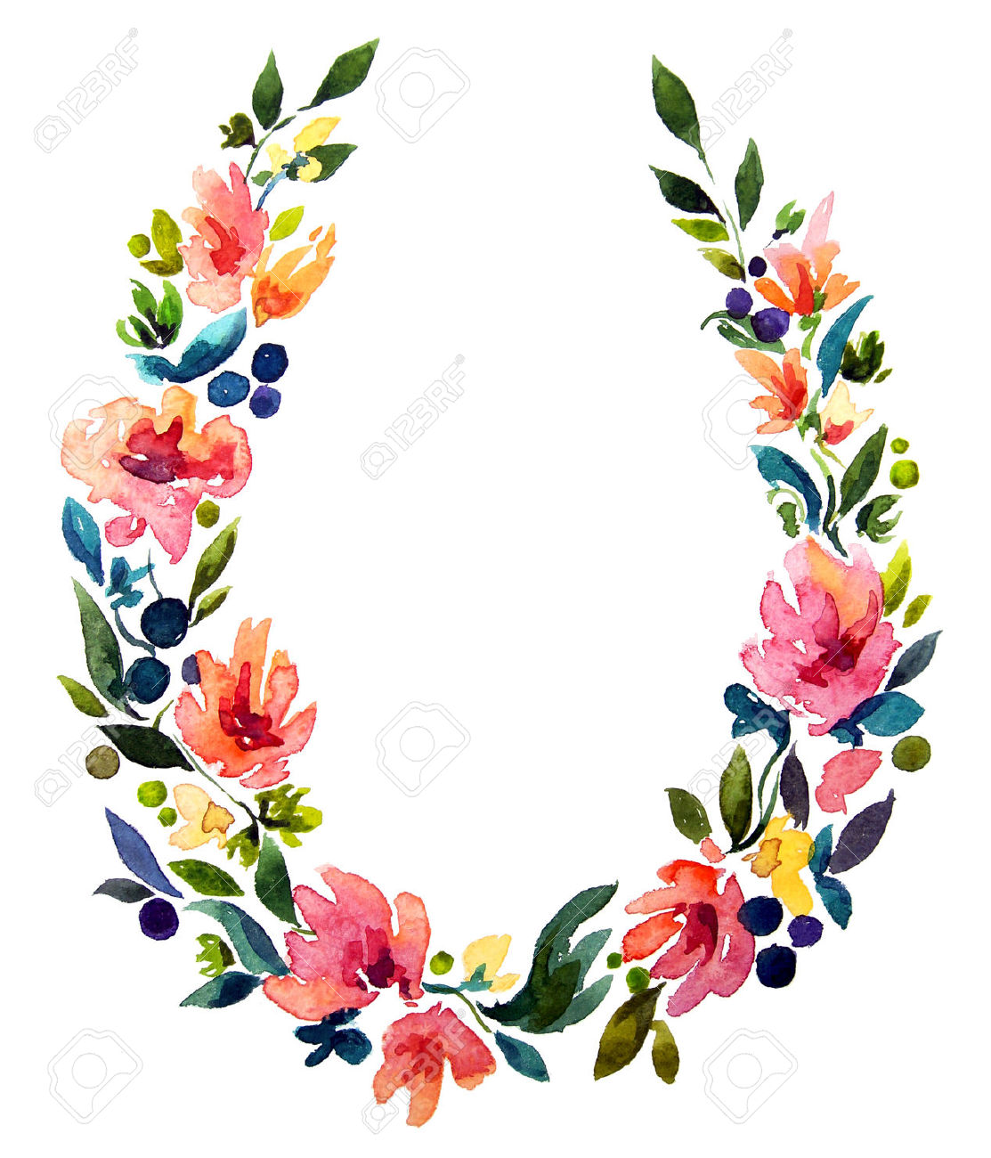 1113x1300 Floral Wreath Clipart