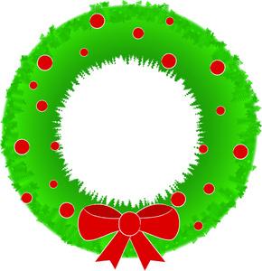290x300 Free Wreath Clip Art Image