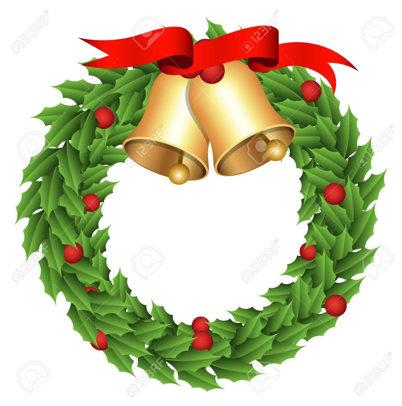 1286x1300 Holiday Wreath Clipart. Clipart Of A Holly And Berry Christmas