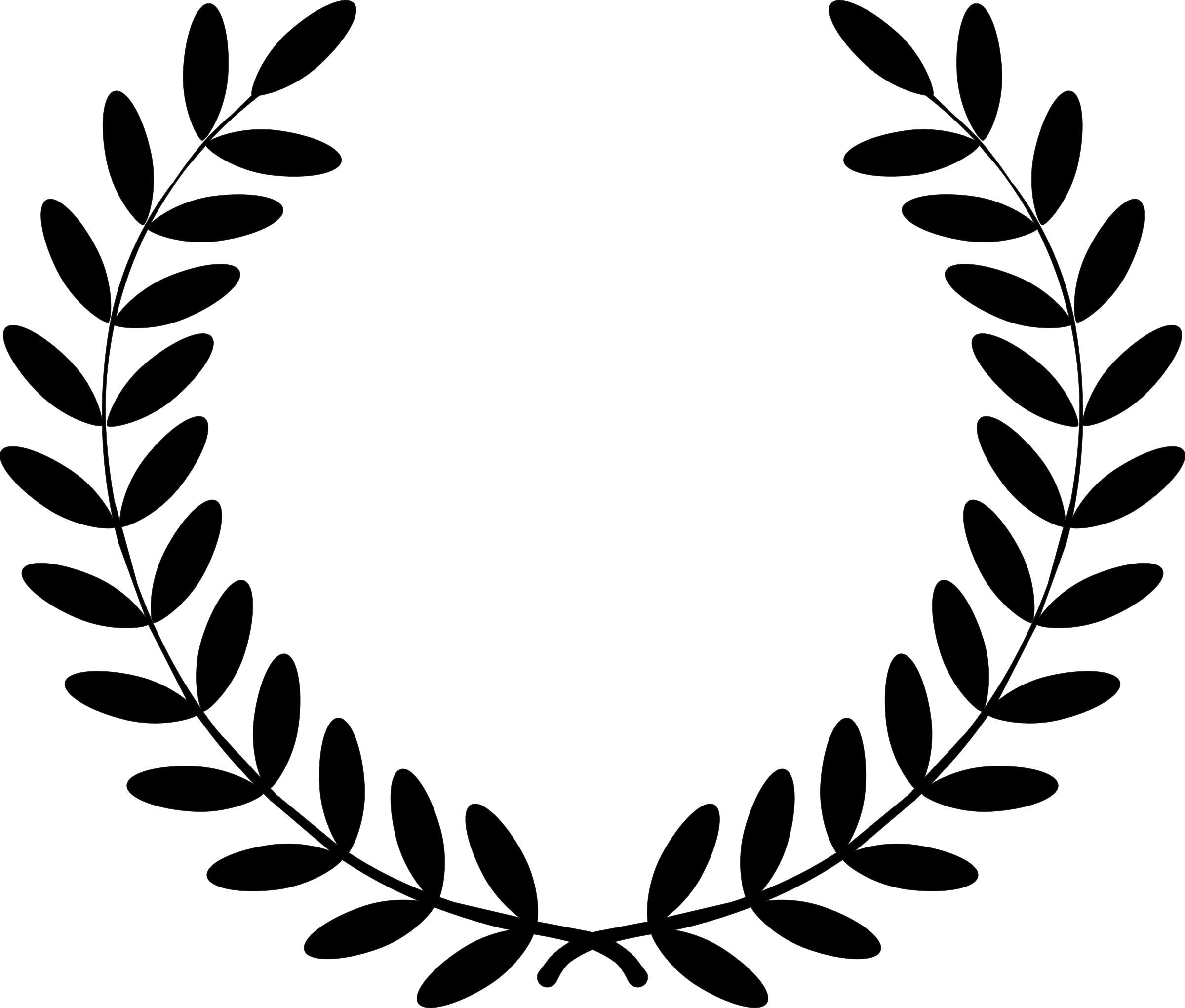 2400x2041 Laurel Wreath Clipart