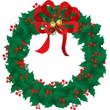 380x380 Top 10 Free Clipart Christmas Wreath
