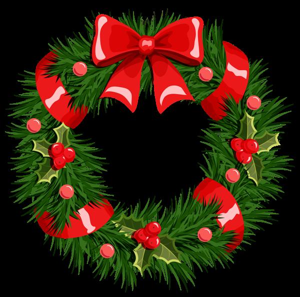 600x593 Transparent Christmas Wreath Png Clipart Printibles Christmas