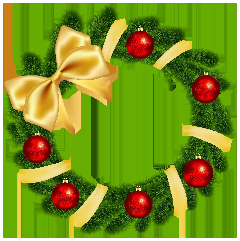 3000x3014 Wreath Clipart Bow