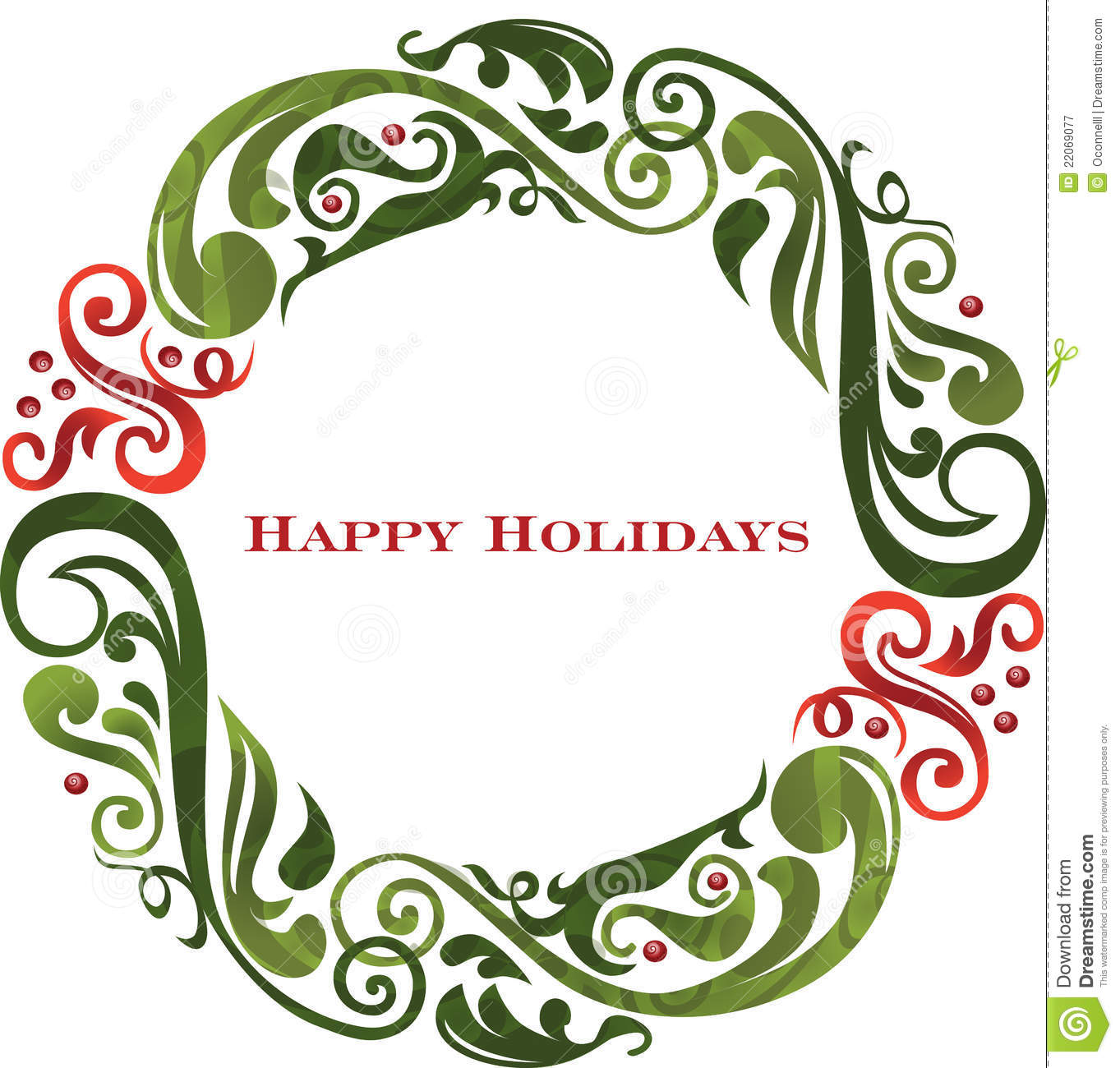 1363x1300 Wreath Clipart Happy Holiday